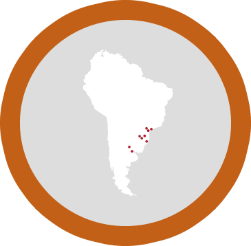 Map of South America Region